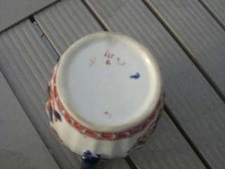 LOVELY COLLECTIBLE ANTIQUE ENGLISH POLYCHROME FLOW BLUE 4.25 CREAMER