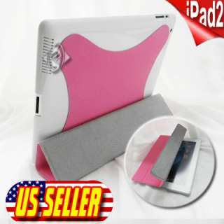 iPad 2 Luxury Snake skin Leather Smart Case Cover with Rotating Stand