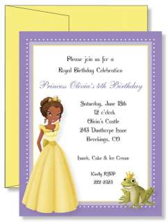 Custom Princess and the Frog Birthday Invitations