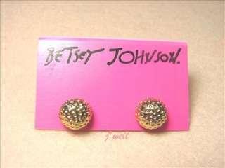 Johnson Golf Gold Tone Stud Earrings for *Christmas Gift*