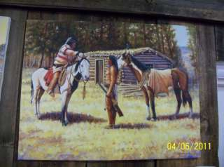 NATIVE AMERICAN PAINTING INDIAN HORSE GICLEE PRINTS