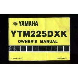 Yamaha YTM 225 DXK Owners Manual, 1982 Yamaha Motor Company Books