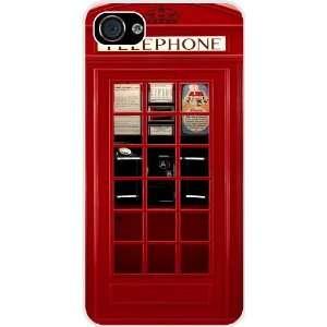 Rikki KnightTM British Phone Booth White Hard Case Cover