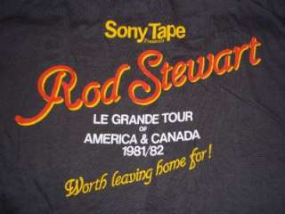 vtg ROD STEWART 1981 USA concert tour t shirt L