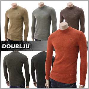 Doublju Mens Casual Turtleneck Sweater Shirt (DA14)