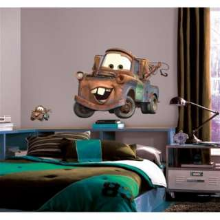 Walt Disneys Cars Tow Mater Giant Peel and Stick Wall Decal NEW MINT