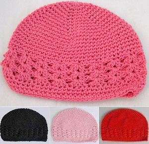 KUFI CROCHET HAT Beanie Cap Hat Kids Baby Girls Toddlers   Choose Size
