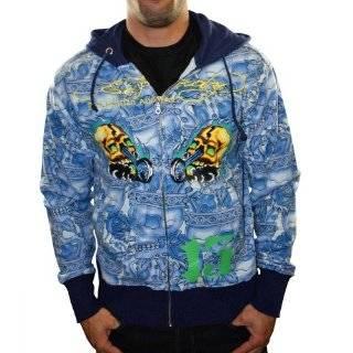 Hardy Mens Born Free Patch Tattoo Black Winter Puffer Jacket, EHJM7045