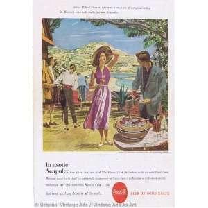 sign of good taste in exotic acapulco Vintage Ad
