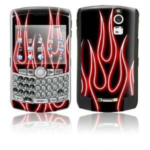 Red Neon Flames Design Protective Skin Decal Sticker for