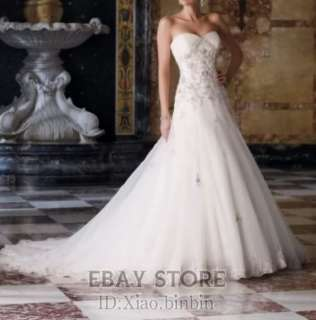 2012 hot white ivory Wedding Dresses Bridal Gown dress Custom SZ2  28