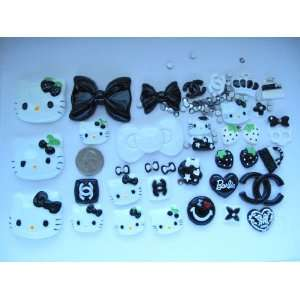 Hello Kitty Bling Bling 35 Pieces Flat back Resin Cabochon/ Rhinestone