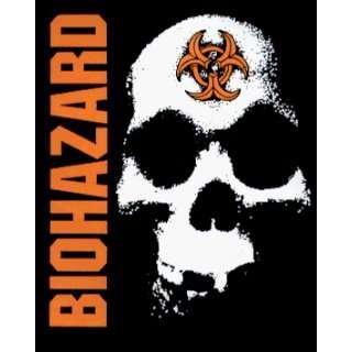 Biohazard   Logo with Skull on Black   Sticker / Decal