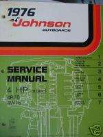 1976 4 HP JOHNSON OUTBOARD SERVICE MANUAL FACTORY !!