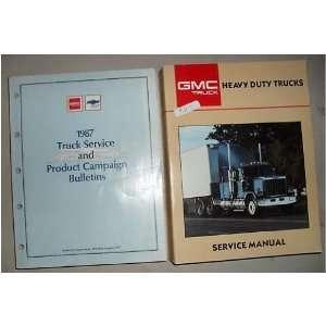 1987 GMC Heavy Duty Truck Service Shop Manual Set 87 (service manual