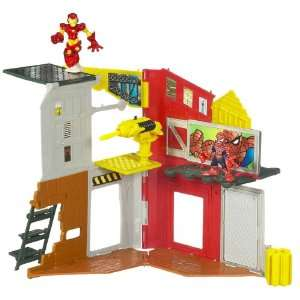 Squad Mini Playset   Superhero City Spidey & Iron Man Toys & Games