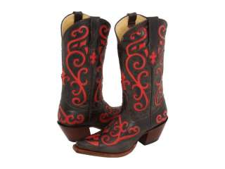 NIB   Womens Tony Lama Western Cowboy Boots Chocolate/ Red VF3023