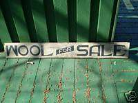 Wool For Sale Primitive Wooden Sign Sheep