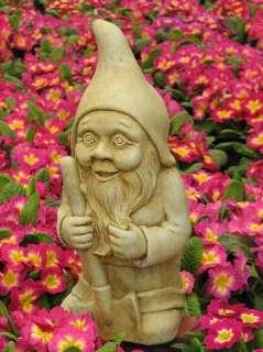 Garden GNOME Outdoor STATUE Cast Cement 17 ELF Troll