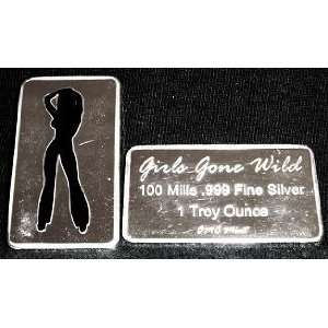 Troy Ounce 100 Mill .999 Fine Silver Girls Gone Wild #14 Art Bar