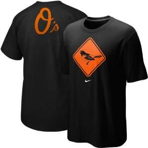 Nike Baltimore Orioles Black Local T shirt (Small) Sports