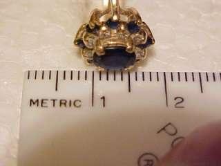 STUNNING 14K GOLD GENUINE DIAMOND & SAPPHIRE GORGEOUS WOMEN`S RING