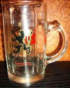 Der Lowenbrau Premium Pils Pilsner Beer Glass Mug Ad Ritz Big Print