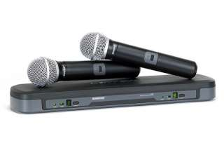 Shure PG288/PG58 Dual Vocal Wireless Microphone System