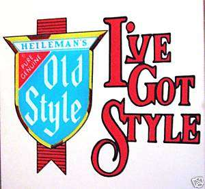 Heileman Old Style Beer Carnival Mirror Old Store Stock