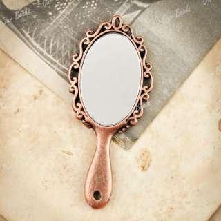 Antique Vintage Copper Mirror Charm Pendants TS7431 3