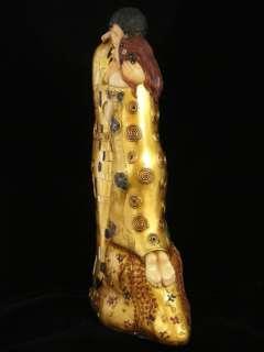 THE KISS Art FIGURINE Deco STATUE after Gustav Klimt