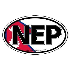 Nepal NEP Flag Car Bumper Sticker Decal Oval Automotive