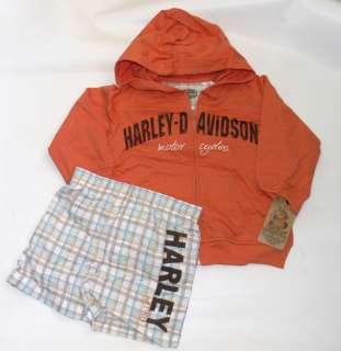 Harley Davidson Baby Boy Infant Hoodie Jacket & Swim Trunks