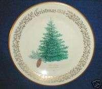 LENOX CHRISTMAS TREES PLATE CHRISTMAS 1978 BLUE SPRUCE