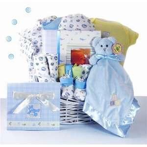 Treasured Memories Baby Boy Gift Basket