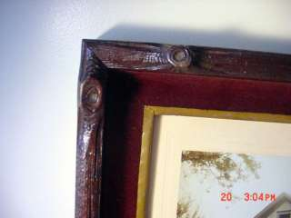 PRIMITIVE LOG CABIN CARVED WOOD PICTURE FRAME