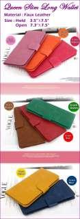 Womens standard Long Wallets Slim Long Wallets Card Case Bill Case