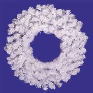 2 ft. PVC Christmas Wreath   Crystal White   110 Tips