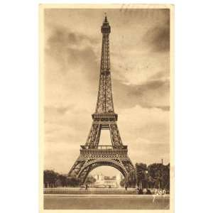 The Gallery For Vintage Eiffel Tower Postcard