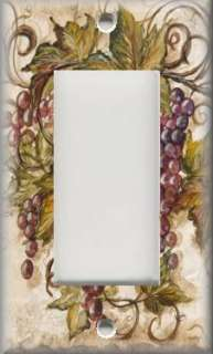 Light Switch Plate Cover   Tuscan Decor   Red Tuscan Grapes