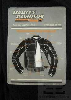 Harley Davidson Screamin Eagle Ivory Black Orange Leather Racing