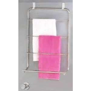 Deluxe Door Towel Rack, crafty organization (Chrome) (23H