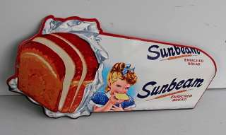 MISS SUNBEAM Bread Loaf Metal Sign Door Bar reissue