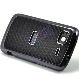 Carbon Fibre Leather Chrome Case Cover For HTC Sensation 4G G14