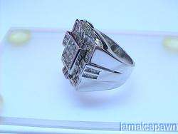 MENS 14k White GOLD DIAMOND PINKY PINKIE RING 3 Carat Band WHITE CLEAN