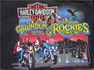 Lot of Two (2) Mens Harley Davidson T Shirts Size XXL (Thunder in the