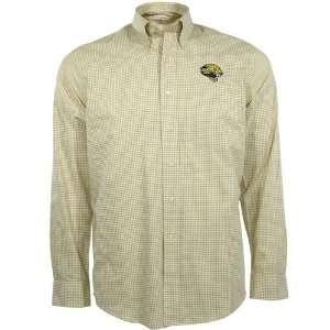 Cutter & Buck Jacksonville Jaguars Gold Gingham Spirit Button up