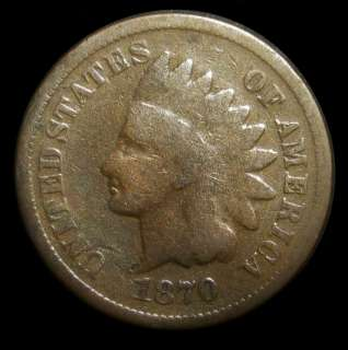 1870 Indian Head Penny One Cent G