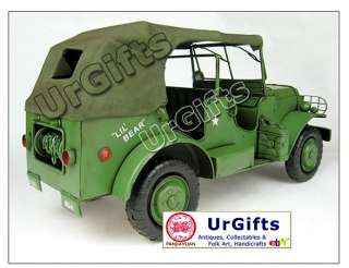 Metal Art Bar Decor Car Model 116 WWII Dodge Willys Jeep 1941