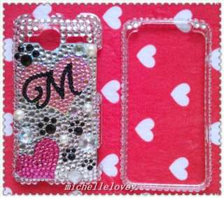 LETTER RHINESTONE BLING FULL COVER CASE FOR HTC EVO Shift 4G ES7